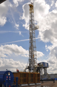The 1,500-hp ShaleDriller Rig features an integrated walking system and can run on both diesel and natural gas.