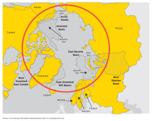 The Arctic, under the jurisdiction of five nations, is a province of large international operators focusing on offshore development. International boundary issues have not been completely resolved.
