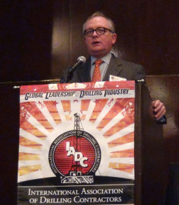 Larry Dickerson, Diamond Offshore Drilling president and CEO, was a keynote speaker at the 2013 IADC HSE & Training Conference. He announced his retirement but will remain CEO until his successor joins the company.