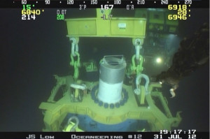 During the exercise, the MWCC capping stack was lowered approximately 6,900 ft below the water's surface, where it landed and latched onto the simulated wellhead. Pressure testing confirmed the capping stack's ability to control a well.