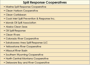 Table 2: Companies from various lines of business have formed cooperatives to pool resources to protect the environment in the event of a spill. Cooperatives can create a platform for member companies to communicate with citizens, public interest groups and governments on an ongoing basis.