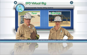 Left: The Environmentally Friendly Drilling Systems Program (EFD) developed a virtual rig website to understand how technologies can reduce the impact of drilling operations on the environment.