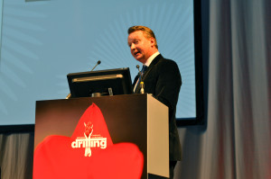"Ole Slorer, managing director, global oilfield services for Morgan Stanley Research, moderated the plenary session, ""Delivering Wells in a Critical World,"" at the 2013 SPE/IADC Drilling Conference in Amsterdam on 6 March."
