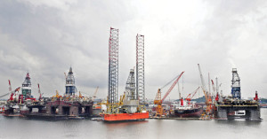 Jurong Shipyard, a subsidiary of Sembcorp Marine, has orders for nine jackups and four semisubmersibles at its yard in Singapore. Sembcorp is also building a new yard, Estaleiro Jurong Aracruz in Brazil, that's scheduled for completion by the end of 2014. Contracts already include seven drillships for Sete Brasil.