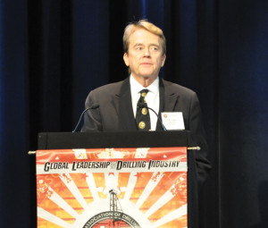 William Reilly spoke at the IADC Environmental Conference in April.