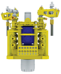 All four of OSRL's capping stacks are designed into a standard configuration, with common pipework, valves, chokes and spools all rated to 15kpsi. The common framework gives greater flexibility by using interchangeable gate valves and rams.