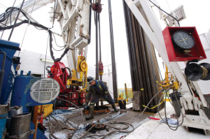 A rig crew member works on Shell's tight gas operations at Groundbirch, Canada. Shell is among a group of operators, drilling contractors, service companies and OEMs that has developed a concept of next-generation well control, which  is more automated and revolves around equipment with enhanced reliability.