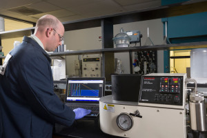 Caption: The Baker Hughes MPRESS drilling fluid system was developed and tested using a rigorous quality assurance program at the Baker Hughes fluids labs in Houston.