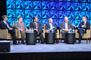 From left, Joe Bryant of Cobalt Energy, Lars Herbst of Bureau of Safety and Environmental Enforcement, John Hollowell of Shell, John Gremp of FMC, Moe Plaisance of Diamond Offshore Drilling and Richard Ward of Baker Hughes.