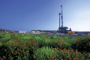 "BHP said it has seen ""better control and more constant horsepower at the bit"" using H&P FlexRigs in North America. The operator has been drilling four to six wells per pad with FlexRig 5s, skidding between wells."