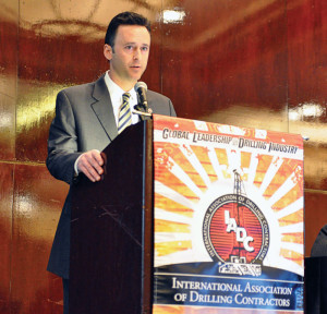 Jason McFarland, IADC VP corporate development and chief of staff, opens the  2013 IADC Drilling Onshore Conference in Houston on 16 May.