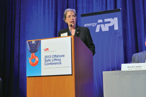 Dr Brenda Kelly, IADC senior director of program development, shares the newest IADC statistics for cranes and crane operations safety at the 2013 API Offshore Safe Lifting Conference in Houston, 16-17 July.