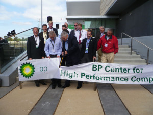 James Dupree, BP COO for reservoir development and technology, inaugurates the new Center for High-Performance Computing in Houston on 22 October. The facility began research service on 9 October.