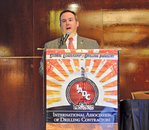 Paul Breaux, IADC director, onshore HSE, speaks at the 2013 IADC Drilling Onshore Conference in Houston on 16 May.