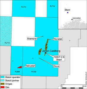 The Skavl well was the third of the four wells in the Johan Castberg area that Statoil had planned to drill in 2013.