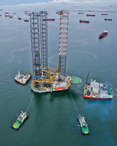 The industry's need for bigger and more robust jackups, such as the Hercules Triumph, was a factor in Hercules Offshore's decision to buy out Discovery Offshore last year. The Hercules Triumph is working for Cairn through February 2014.