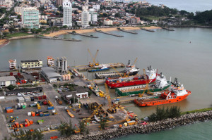 The Macaé port, once the hub of a small fishing village, is now the focal point of Brazil's offshore oil industry. Plans are under way to build a new port dedicated to offshore support vessels.