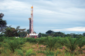 Nabors Rig 990, a PACE-2 1,500-hp AC electric rig, is one of 13 rigs drilling conventional oil and gas wells in Colombia's Llanos Basin for state-owned oil company Ecopetrol.