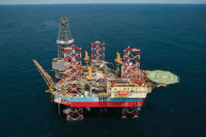 The Maersk Completer, which has been operating in Brunei since its delivery in 2007, is one of two Baker Marine 375-ft jackups in Maersk Drilling's fleet.