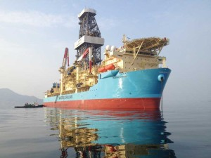 Above and below: Maersk Drilling's first ultra-deepwater drillship, the Maersk Viking, has been deployed to the GOM under a three-year contract with ExxonMobil.