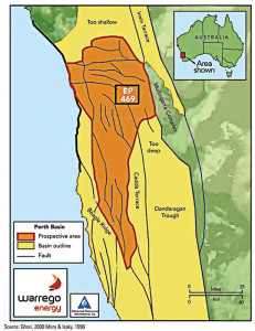 Warrego Energy's Block 469 is located within the onshore Perth Basin of Western Australia. The company plans to begin a seismic program there by May.