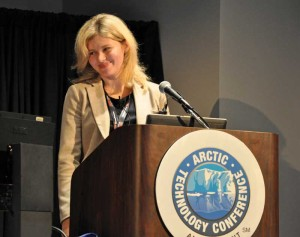 Speaking at the 2014 Arctic Technology Conference in February in Houston, Maria Urycheva of the University of Stavanger presented a new Arctic jackup concept featuring tubular-shaped legs that resist ice impact.