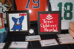 Artwork created by patients at the Texas Children's Hospital (TCH) Cancer Center were among silent auction items at the Field of Dreams gala for the annual Derricks & Diamonds fundraising event. More than $2 million has been raised over the past decade through the Derricks & Diamonds event.