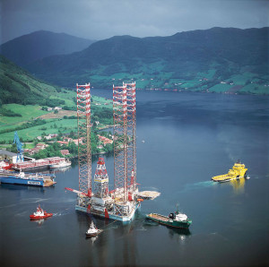 The Maersk Gallant, rated to drill in up to 394 ft of water, is one of two Maersk rigs operating in Denmark.