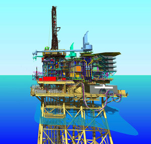 The Modular Offshore Rig Facility has two main modules - the drilling equipment set  and the drilling support module - that can be delivered using the client's service fleet and then assembled using a combination of crane systems.