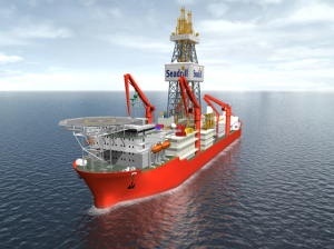 The West Jupiter, due for delivery in August, will be capable of operating in water depths up to 12,000 ft and drilling depths up to 37,500 ft. Total has awarded Seadrill a five-year contract for the ultra-deepwater drillship.