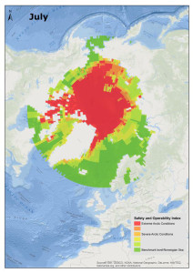 DNV GL's interactive Arctic Risk Map includes a Safety and Operability Index to show the variation in different factors that impact risk levels.