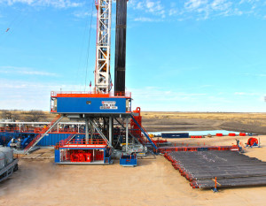 Rig 248 features a walking system capable of moving the mast and substructure with 20,500 ft of drill pipe and eight stands of collars. The system is capable of forward, backward and side-to-side movement. The AC-drive rig is working in South Texas in the Eagle Ford Shale.