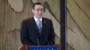 Prime Minister of Romania Victor Ponta highlighted his country's ambitions for energy independence at the World Affairs Council of Houston on 26 September.