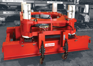Claxton Engineering's conductor cementing support system holds the conductor with a hydraulic mechanism. It holds the weight of the conductor while the cement cures.