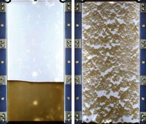 Conventional fracturing fluids (left) can leave significant fractured areas without proppant. These areas eventually close and do not contribute to production. The Schlumberger BroadBand Precision services' engineered composite fluids (right) prop open each fracture in its entire height and length.