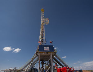 Independence Contract Drilling's Rig 205, currently working in the Permian Basin, is among the company's fleet of 11 onshore rigs. Three more are under construction, due out in early to mid-2015.