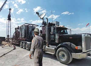 A Cudd Energy Services CT truck services a well site in the Bakken. Cudd has 53 CT units working in the continental US. The company said it is seeing increased implementation of fracturing with CT, where CT is used to isolate zones, perforate and execute down the CT annulus so zones can be targeted quickly.