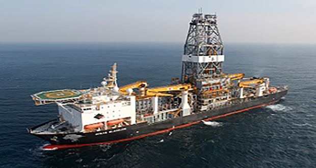 The Ocean BlackLion, built for Diamond Offshore, is Hyundai Heavy Industries' 2,000th completed ship.