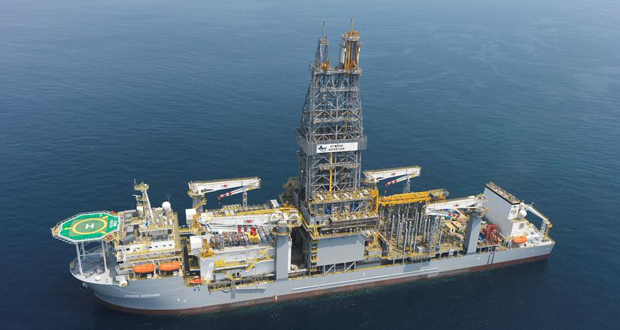 Kosmos Energy encountered additional hydrocarbons offshore Mauritania. The Tortue-1 well, approximately 285 km southwest of Nouakchott in 2,700 m of water, was drilled with the Atwood Achiever drillship. The well was drilled at a total cost of approximately $125 million to a total depth of approximately 5,100 m.