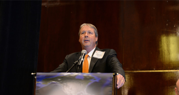 Marshall Adkins, Partner at Raymond James & Associates, told drilling contractors that the US rig count may be within weeks from bottoming out at the 2015 IADC Drilling Onshore Conference in Houston.
