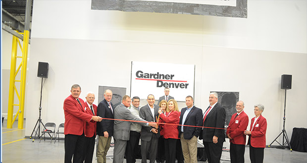 Gardner Denver marked the opening of its new regional repair center in Odessa, Texas with a ribbon-cutting ceremony on 11 November.