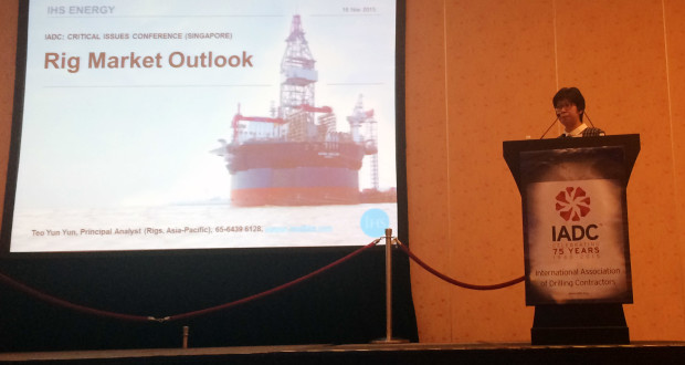 Speaking at the 2015 IADC Critical Issues Asia Pacific Conference on 18 November in Singapore, Yun Yun Teo, IHS Principal Analyst for Rigs, Asia Pacific, said it's still early days yet for rig acquisition as prices have not fallen low enough.