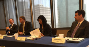 Panelists at Deloitte's Food for Though Briefing, held on 25 January in Houston, were (from left) John England, Robin Bertram, Melinda Yee and Jason Spann. The speakers all noted their expectation for 2016 to reflect the lower-for-longer market.