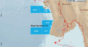 The Shwe Yee Htun-1 well targeted one of many identified channel complexes that run over the Saung Anticline.