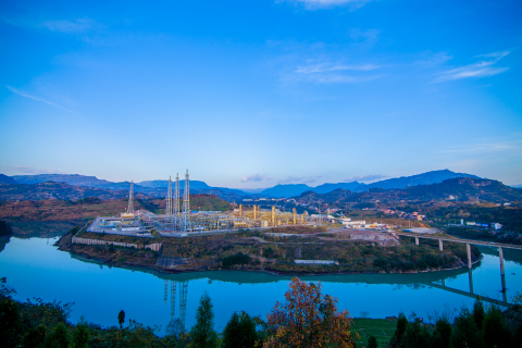 The Nanba gas processing plant at the Chuandongbei Project in southwest China.