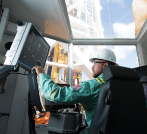Using Schlumberger's drilling advisor service, drillers on Precision rigs receive real-time steering recommendations when drilling directional wells. So far, Precision Drilling has drilled two wells with this service, each with only one directional driller on the rig. For Precision's turnkey operations, all directional driller expertise will eventually transition off site, with the driller following the instructions generated by the software and supported by the directional drillers in the remote operations center.