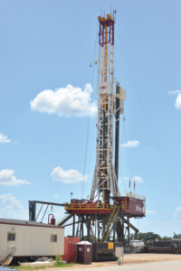 The 75-ton, 1,500-hp Ideal Prime rig at National Oilwell Varco's Research and Development Technology Center in Navasota, Texas, is equipped with wired drill pipe to help test the company's automated drilling technologies.