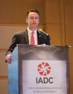 Jason McFarland speaks at the 2016 SPE/IADC Managed Pressure Drilling and Underbalanced Operations Conference, held 12-13 April in Galveston, Texas. Mr McFarland stepped into his role as President of IADC in March and, throughout this year, has been working to identify members' critical needs and bringing members together to develop solutions.