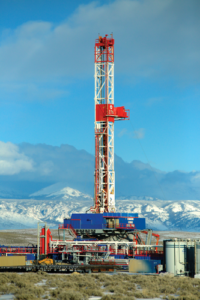 Patterson-UTI's Rig 276 drills near Pinedale, Wyo. Going forward, it's expected that operators will continue to demand premium, high-spec rigs with 1,500 hp, 750,000-lb mast and sub load capacity, 7,500-psi circulating system and a walking system.