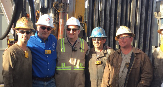 During his visit to the Permian, Sen. Cruz (center) had the opportunity to observe the oil and gas industry firsthand and meet with industry employees.